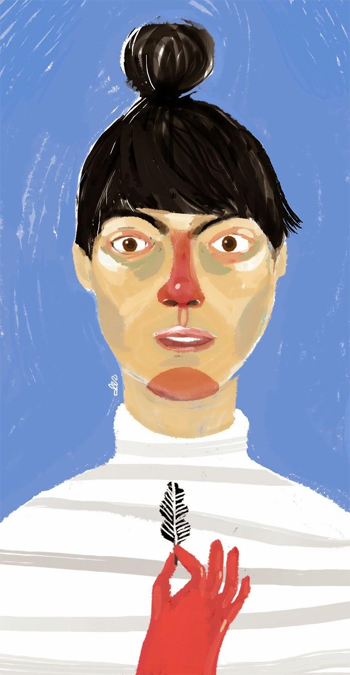 Autoportret Dominika Czerniak tablet