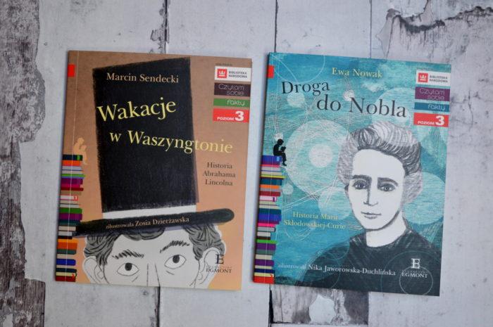 Wakacje wWaszyngtonie Czytam sobie Egmont Marcin Sendecki Droga doNobla Skłodowska-Curie Ewa Nowacka